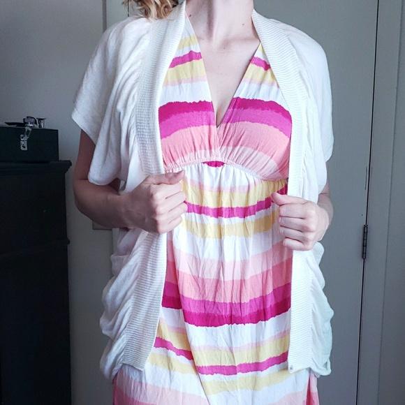 BCBGMaxAzria Sweaters - BCBG White Short Sleeve Cardigan